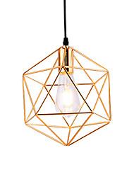Недорогие -современный стиль гальванических геометрический узор дизайн металлическая клетка подвеска свет ресторан кафе подвеска лампа