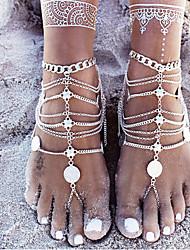 abordables -Femme Turquoise Lien / Chaîne Bracelet Chaîne - Ethnique Bracelet Argent Pour Plein Air Sortie
