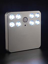 billige Originale lamper-BRELONG® 1pc LED Night Light Hvit AAA batterier drevet Enkel å bære / Menneskekroppssensor / Trådløs <=36 V