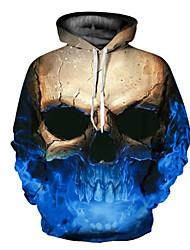 billige -Herre Basale / overdrevet Hattetrøje - 3D