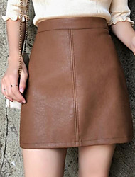 Недорогие -женщины выходят над юбками карандаша для колена - сплошные цветные