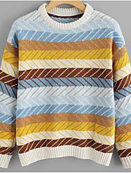 billige -Dame Aktiv Pullover - Farveblok