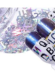 baratos -5 pcs Rhinestones geométricos Amiga-do-Ambiente Criativo Letra arte de unha Manicure e pedicure Diário / Festival Fashion