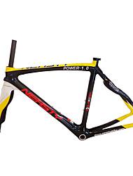 Недорогие -Рама для  дорожного велосипеда Углеродное волокно Велоспорт Рамка 700C Неприменимо Заезд на 3 км см дюймовый