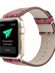 Недорогие -Настоящая кожа / Поли уретан Ремешок для часов Ремень для Apple Watch Series 4/3/2/1 Красный 23см / 9 дюйма 2.1cm / 0.83 дюймы