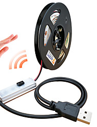 Недорогие -ZDM® 1m Интеллектуальные огни 60 светодиоды SMD2835 Тёплый белый / Холодный белый Водонепроницаемый / USB / Новый дизайн Работает от USB 1 комплект