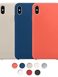 Недорогие -Кейс для Назначение Apple iPhone XS Max / iPhone X Защита от удара / Защита от пыли / Защита от влаги Кейс на заднюю панель Однотонный Твердый Ластик
