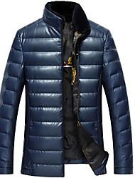 Недорогие -мужская кожаная куртка - сплошной цветной подставка