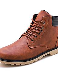 Недорогие -Муж. Комфортная обувь Кожа Осень Винтаж / На каждый день Ботинки Черный / Серый / Коричневый