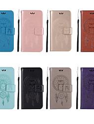 Недорогие -Кейс для Назначение Nokia Nokia 7 Plus / Nokia 5.1 Кошелек / Бумажник для карт / со стендом Чехол Сова Твердый Кожа PU для 8 Sirocco / Nokia 7 Plus / Nokia 6 2018