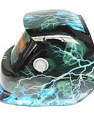 Недорогие -солнечная автоматическая потемнение сварочный шлем 107 молния