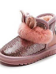 Недорогие -Мальчики / Девочки Обувь Лакированная кожа Зима Зимние сапоги Ботинки Пайетки для Дети Черный / Серый / Розовый