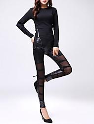 billige -Dame Basale Legging - Ensfarvet Medium Talje