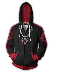 Недорогие -Вдохновлен Kingdom Hearts Sora Аниме Косплэй костюмы Косплей толстовки С принтом / Пэчворк / Особый дизайн Толстовка Назначение Универсальные