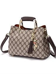 9d72d4bb8 Women's Bags PVC(PolyVinyl Chloride) Tote Pattern / Print / Tassel Red /  Coffee
