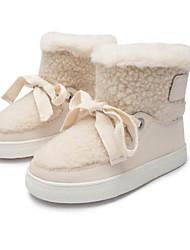 Недорогие -Девочки Обувь Эластичная ткань Зима Зимние сапоги Ботинки Бант / На липучках для Дети Хаки / Сапоги до середины икры
