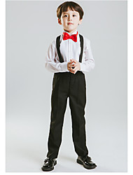 billige -Hvid Polyester Jakkesæt til ringbæreren - 1 stk Inkluderer Seler