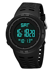 Недорогие -Муж. Спортивные часы электронные часы Японский Цифровой силиконовый Черный / Зеленый 30 m Защита от влаги Календарь С двумя часовыми поясами Цифровой Мода - Черный Зеленый / Хронометр