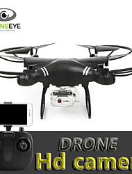 baratos -RC Drone s18 BNF 4CH 6 Eixos 2.4G Com Câmera HD 3.0mp 720p Quadcópero com CR Auto-Decolagem / Modo Espelho Inteligente / Vôo Invertido 360° Quadcóptero RC / Controle Remoto / Câmera / Upside-Down Vôo