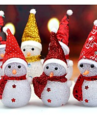 Недорогие -1pc светится светящийся снежный снеговик теплый белый светодиод рождество xmas украшение случайный цвет