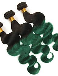 Недорогие -3 Связки Бразильские волосы Естественные кудри человеческие волосы Remy Накладки из натуральных волос 10-26 дюймовый Ткет человеческих волос Мягкость Лучшее качество Новое поступление / 10A