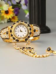 Недорогие -FEIS Жен. Часы-браслет Кварцевый Золотистый Секундомер Аналого-цифровые Дамы Мода - Черный