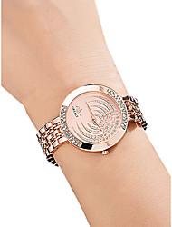 Недорогие -Жен. Наручные часы Diamond Watch золотые часы Кварцевый Серебристый металл / Золотистый / Розовое золото 30 m Защита от влаги Имитация Алмазный Аналоговый Дамы На каждый день Мода -