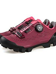 Недорогие -SANTIC Взрослые Обувь для горного велосипеда Дышащий, Противозаносный, Амортизация Велосипедный спорт / Велоспорт / Для велоспорта Черный / Вино Жен. Обувь для велоспорта / Вентиляция / Вентиляция