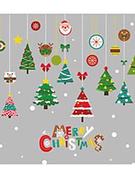 Недорогие -Декоративные наклейки на стены - Праздник стены стикеры Рождество / Цветочные мотивы / ботанический Спальня / Детская