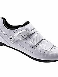 Недорогие -Обувь для шоссейного велосипеда Нейлон, стекловолокно, воздушное отверстие,противоскользящие протекторы Дышащий Амортизация Вентиляция Велосипедный спорт / Велоспорт Для велоспорта Белый