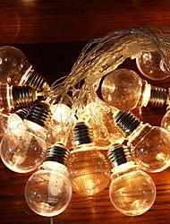 Недорогие -2,5м Гирлянды 10 светодиоды Тёплый белый Декоративная Солнечная энергия 1 комплект