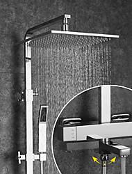 baratos -Torneira de Chuveiro / Torneira pia do banheiro - Moderna Cromado Montagem de Parede Válvula Cerâmica