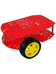 baratos -novo corpo de carro de duas rodas poroso vermelho arduino