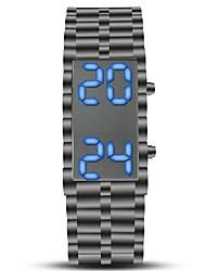 Недорогие -Муж. Спортивные часы Наручные часы электронные часы Цифровой Нержавеющая сталь Черный Секундомер Творчество Новый дизайн Цифровой Винтаж Кольцеобразный - Черный Один год Срок службы батареи