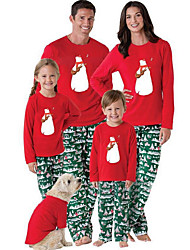 Недорогие -Семейный вид Животное Длинный рукав Набор одежды