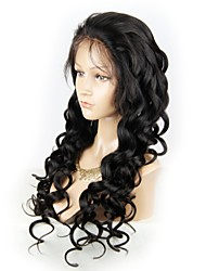 cheap -Virgin Human Hair Remy Human Hair Lace Front Wig Layered Haircut Middle Part Side Part style Brazilian Hair Loose Wave Natural Straight Wig 130% Density Soft Natural Natural Hairline African American