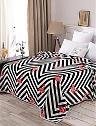 Недорогие -Одеяла, Полоски 100%микро волокно Сгущать одеяла