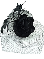 cheap Toys & Hobbies-Black Swan Women's Girls' Floral Retro / Vintage Vintage 1920s Head Jewelry Hat For Masquerade Prom Banquet Hat Headwear Costume Jewelry