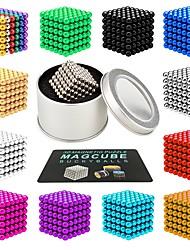 Недорогие -216 pcs 3mm Магнитные игрушки Магнитные шарики Магнитные игрушки Конструкторы Сильные магниты из редкоземельных металлов Неодимовый магнит Неодимовый магнит Магнитный