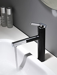 Недорогие -Ванная раковина кран - Вращающийся / Новый дизайн Окрашенные отделки / черный Настольная установка Одной ручкой одно отверстиеBath Taps