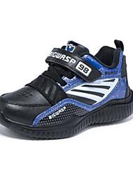 Недорогие -Мальчики Обувь Синтетика Наступила зима Удобная обувь / Меховая подкладка Спортивная обувь Для прогулок На липучках для Дети / Для подростков Черный / Серый / Синий