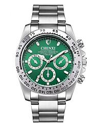 Недорогие -Муж. Нарядные часы Кварцевый Серебристый металл Защита от влаги Фосфоресцирующий Аналоговый Мода минималист - Черный Зеленый Синий