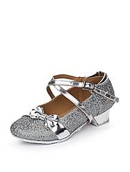 Недорогие -Жен. Детская обувь для танцев Лак / Блестки / Синтетика На плоской подошве Пайетки / Пряжки / Оборки На низком каблуке Танцевальная обувь