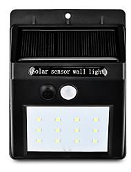 Недорогие -1шт 2 W Свет газонные / Светодиодный уличный фонарь / Солнечный свет стены Работает от солнечной энергии / Инфракрасный датчик / Управление освещением Тёплый белый / Белый 3.7 V