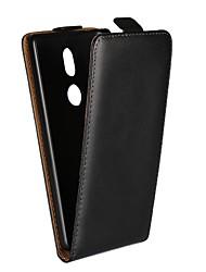 Недорогие -Кейс для Назначение Nokia Nokia 8 / Nokia 7 / Nokia 6 со стендом / Флип Чехол Однотонный Твердый Настоящая кожа