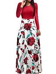 Недорогие -Жен. Праздники На выход Элегантный стиль Платье - Цветочный принт, С принтом Макси Роуз