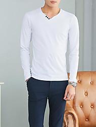 Χαμηλού Κόστους -ανδρών που βγαίνουν έξω t-shirt - συμπαγές χρώμα v λαιμό