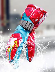 Недорогие -Лыжные перчатки Зимние Жен. Кожа Полный палец Сохраняет тепло С защитой от ветра Влагопроницаемость Дышащий Лыжи Водонепроницаемый