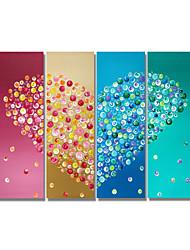 Недорогие -styledecor® современная ручная роспись абстрактная тетрадь любви масляной живописи на холсте для настенного искусства, готовая повесить искусство