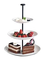 Недорогие -три слоя круглая нить сторона кондитерские изделия миска фруктовые чаши крутящаяся тарелка чайный чайный десертный лоток для чая cp0010